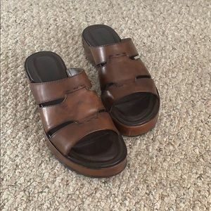 Cole Haan women's brown leather sandals